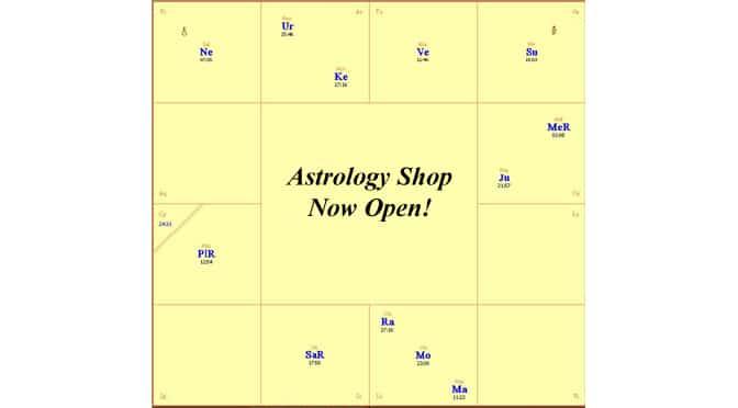 Astrology Shop Now Open!